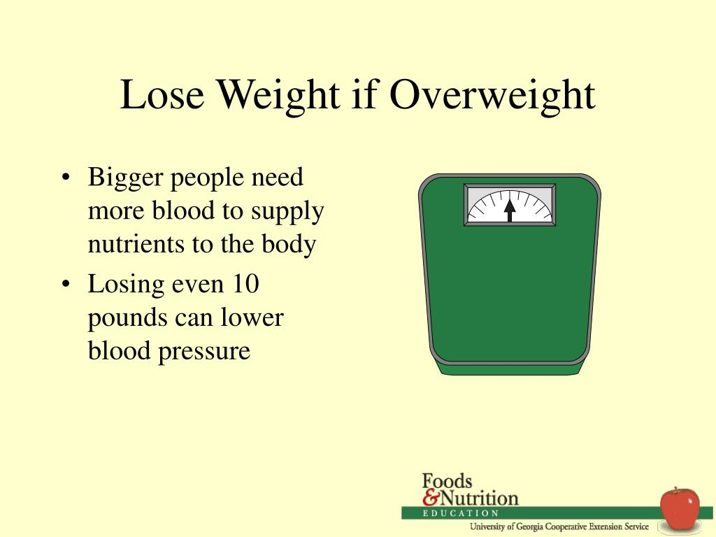 Lose Weight if Overweight