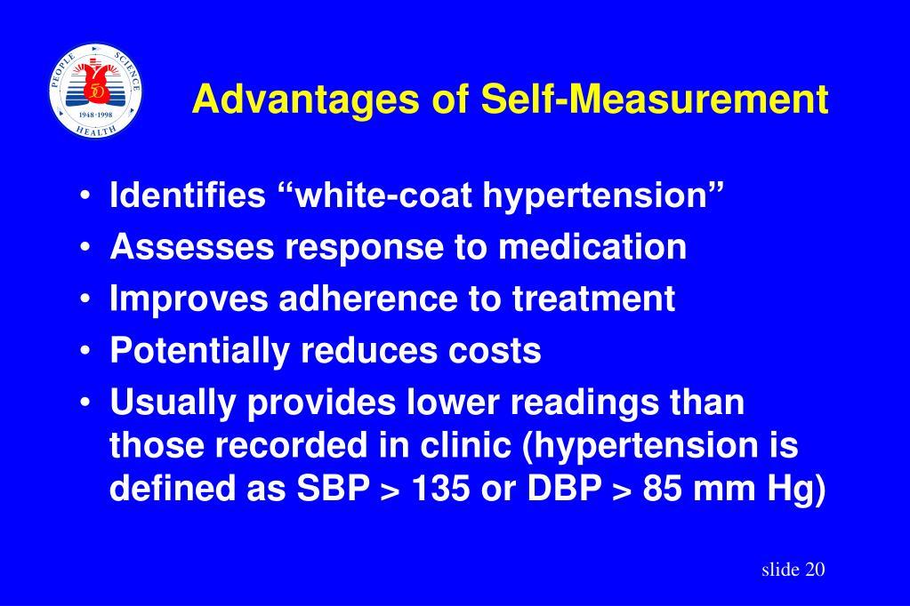 Advantages of Self-Measurement