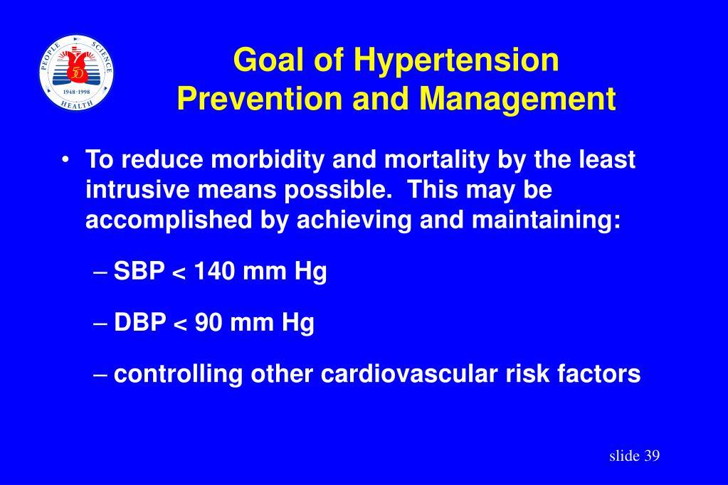 Goal of Hypertension