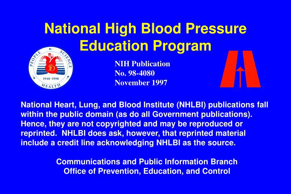 National High Blood Pressure Education Program