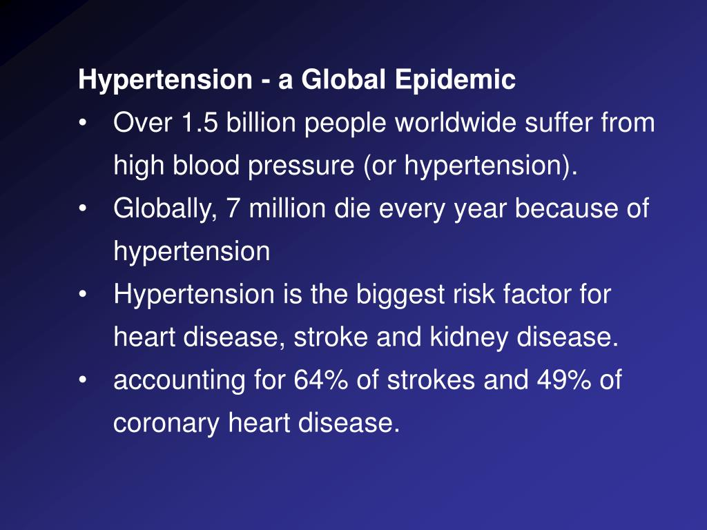 Hypertension - a Global Epidemic