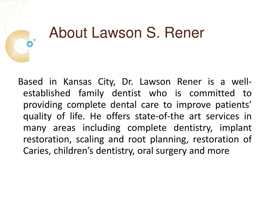 About Lawson S. Rener