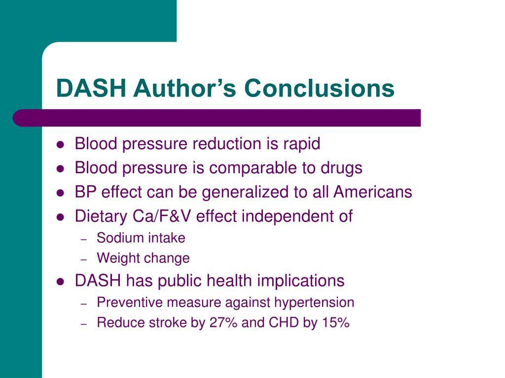 DASH Author's Conclusions