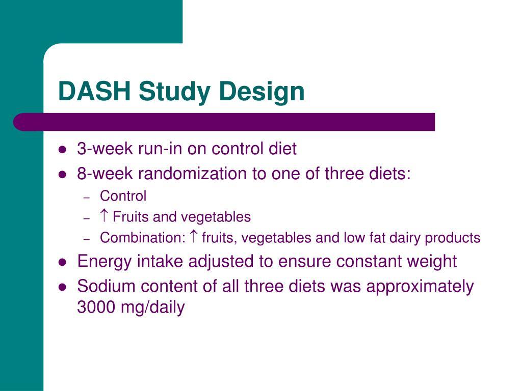 DASH Study Design