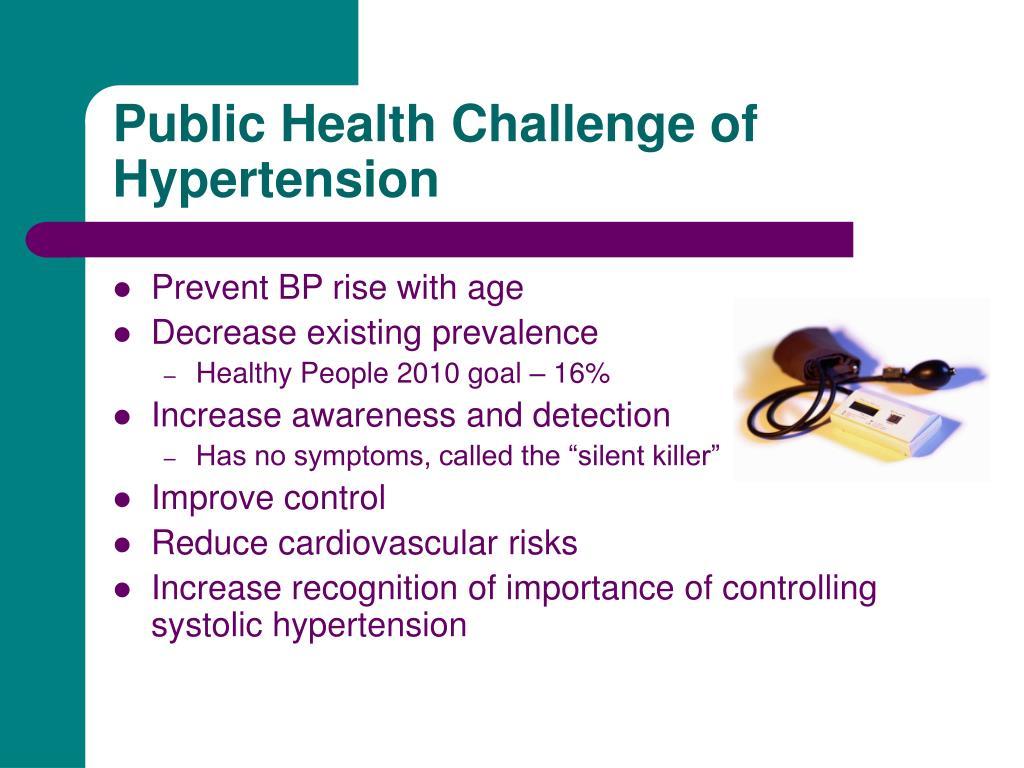 Public Health Challenge of Hypertension