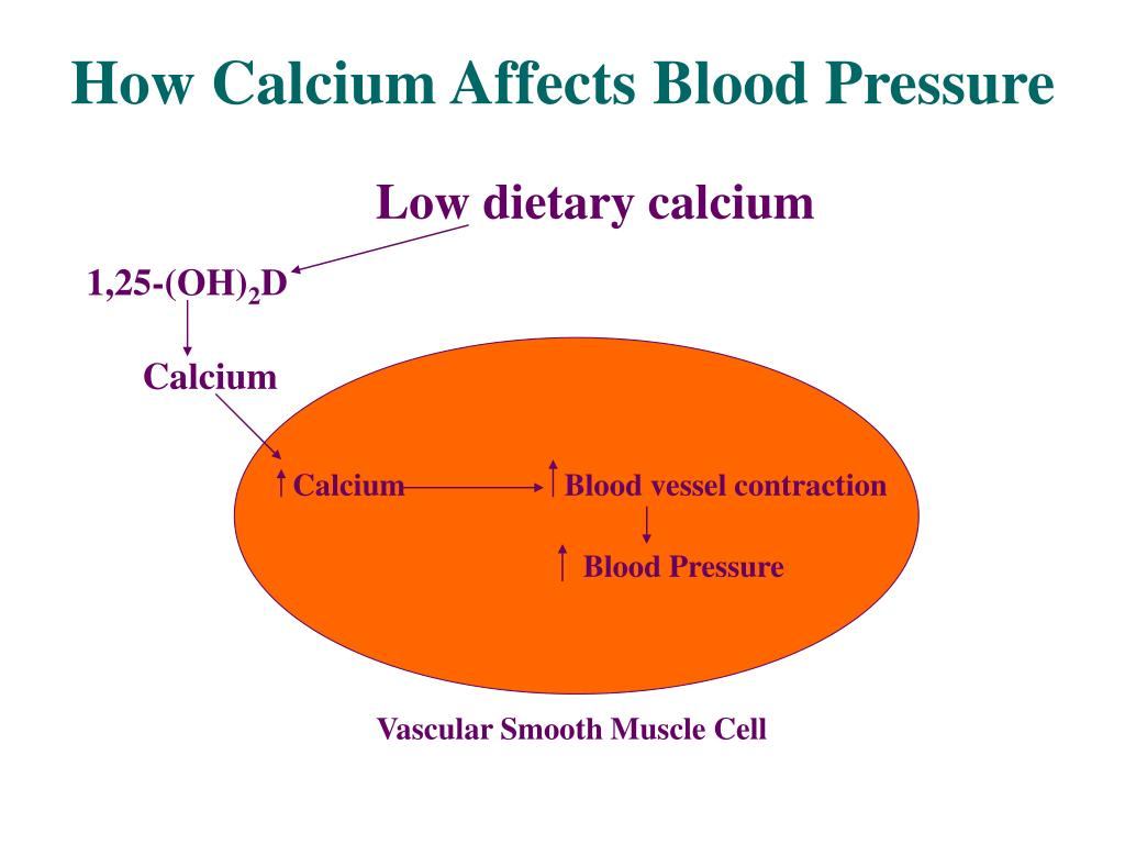 How Calcium Affects Blood Pressure