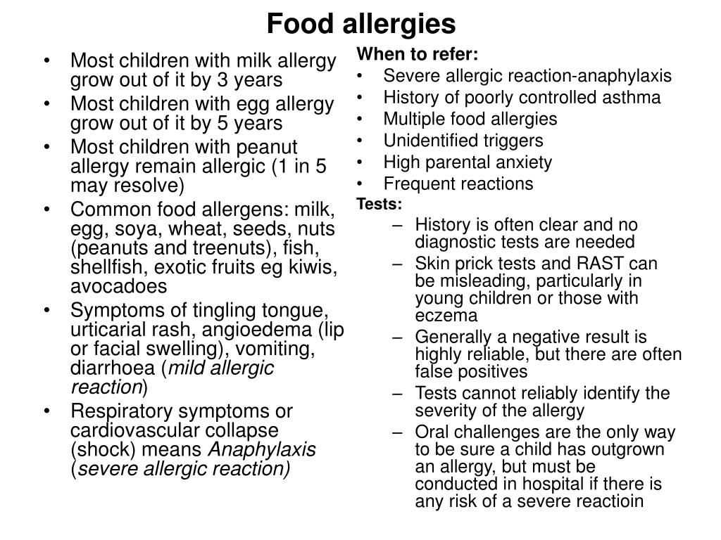 Most children with milk allergy grow out of it by 3 years