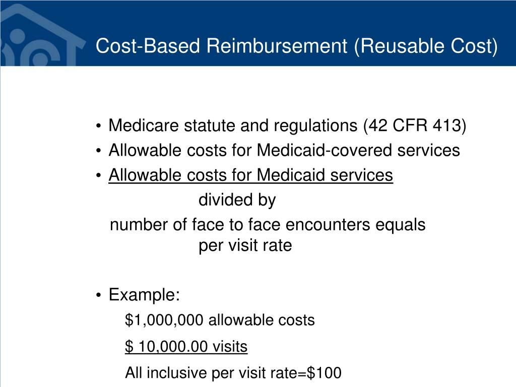 Cost-Based Reimbursement (Reusable Cost)