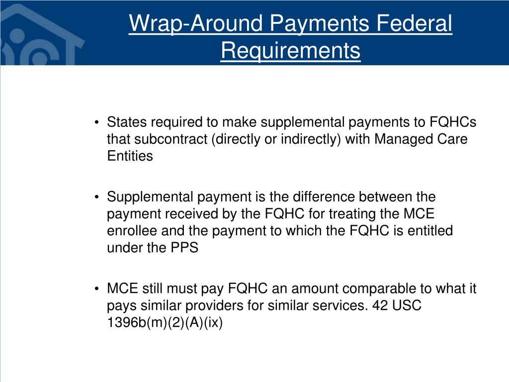 Wrap-Around Payments Federal Requirements