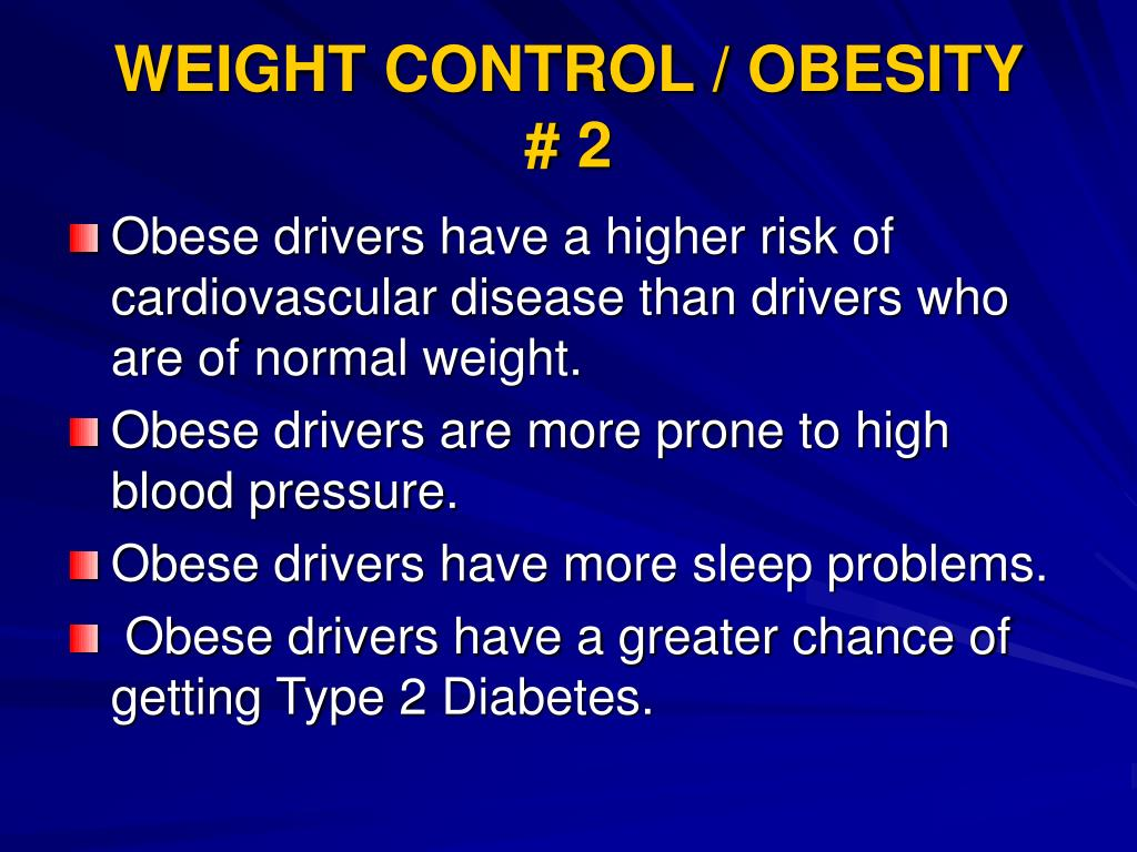 WEIGHT CONTROL / OBESITY