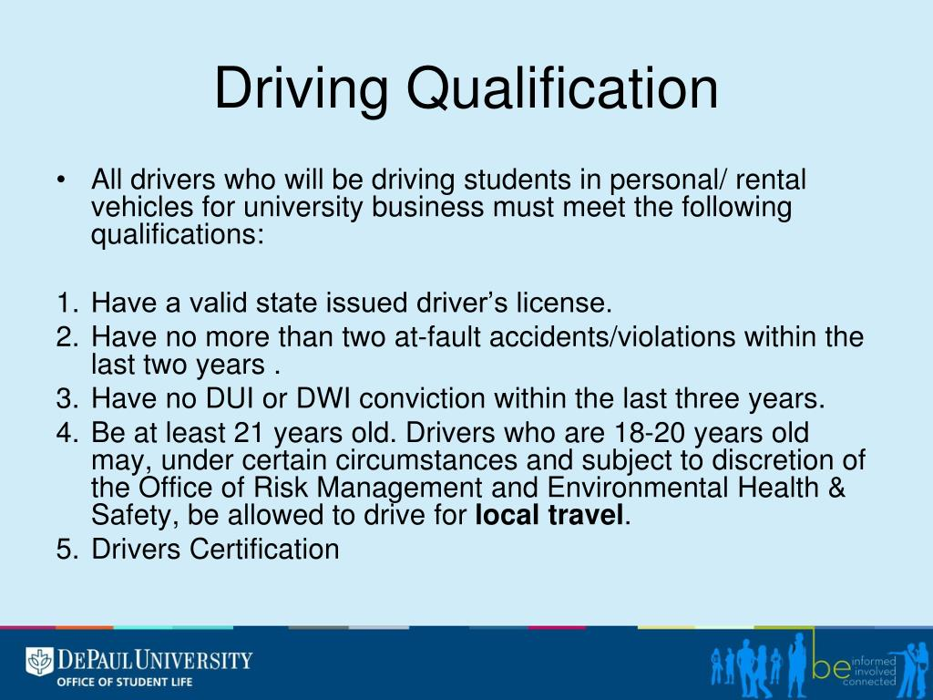 Driving Qualification
