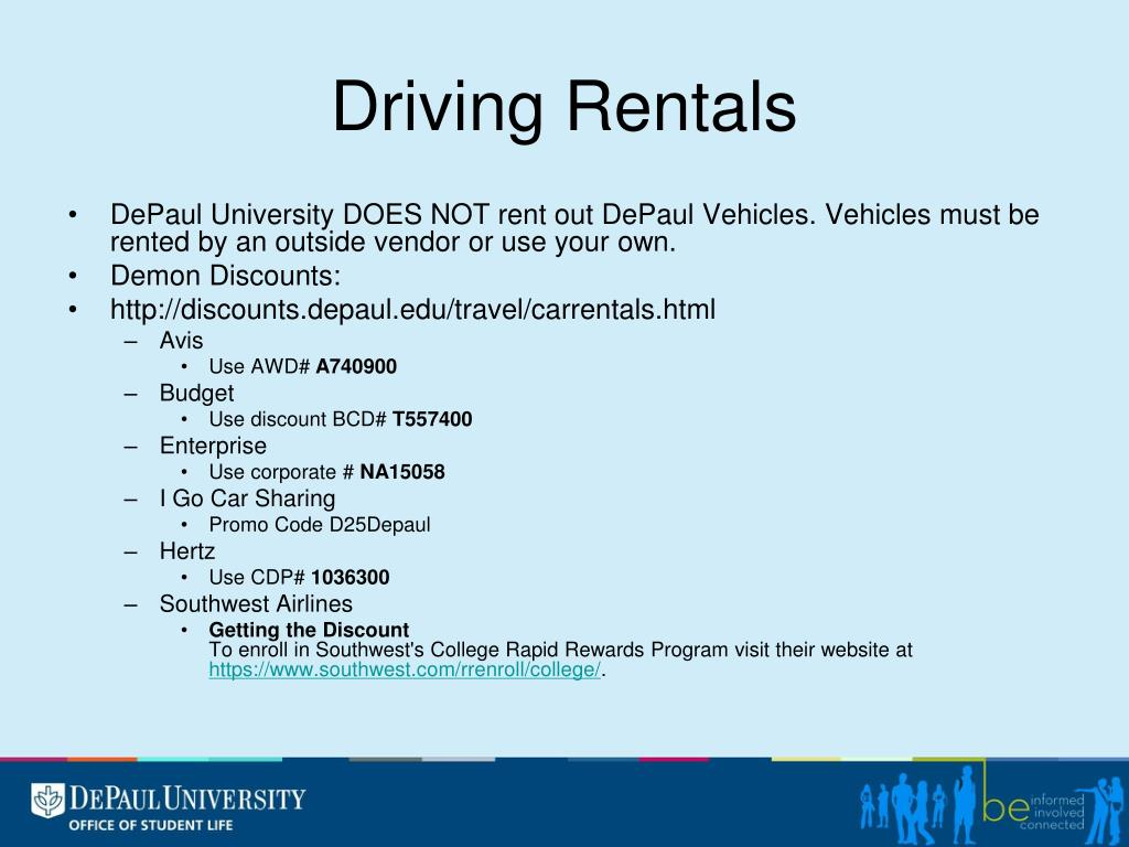 Driving Rentals