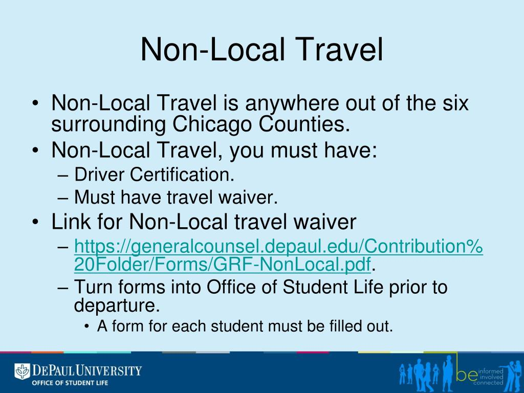 Non-Local Travel