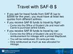 travel with saf b