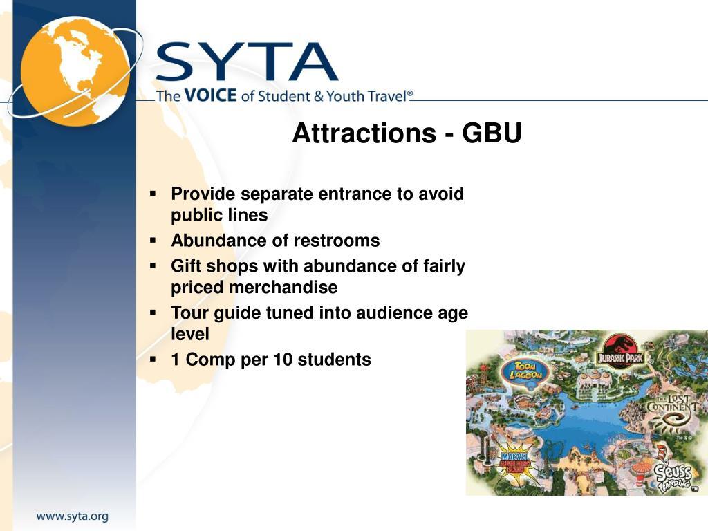 Attractions - GBU