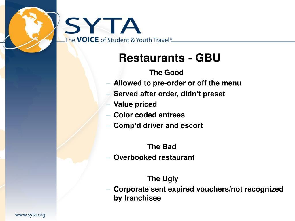 Restaurants - GBU