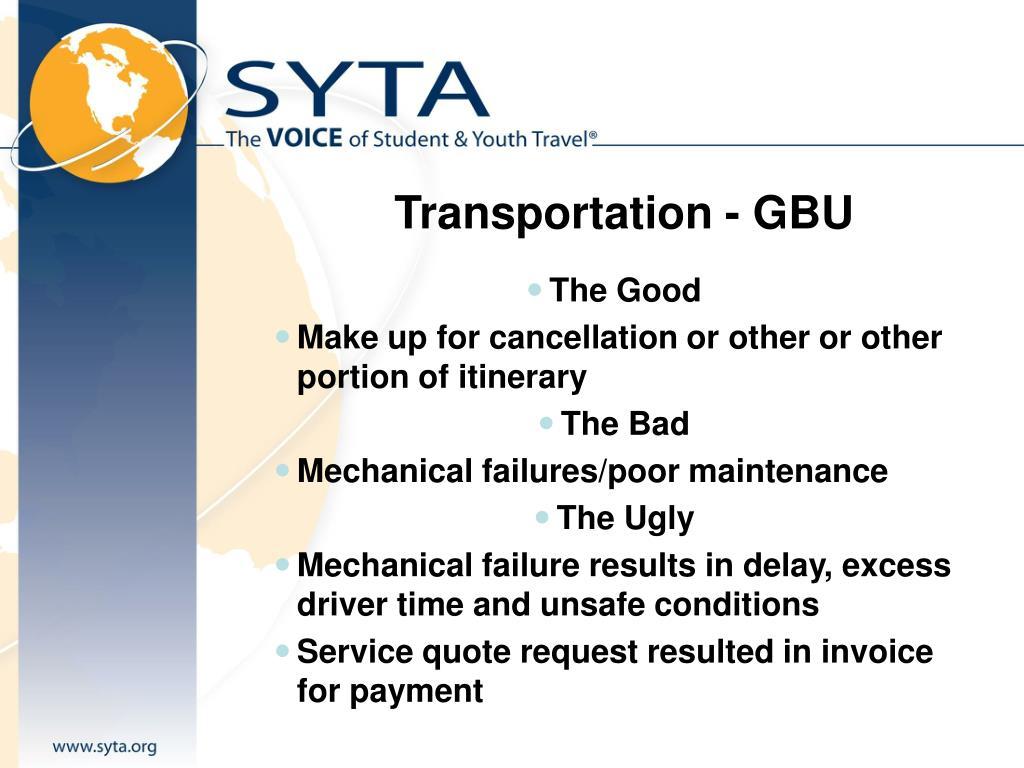 Transportation - GBU