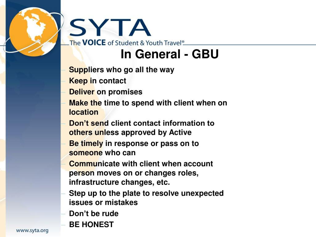 In General - GBU