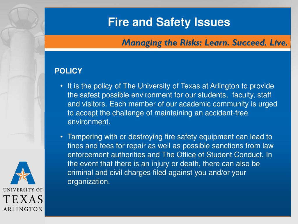 Fire and Safety Issues