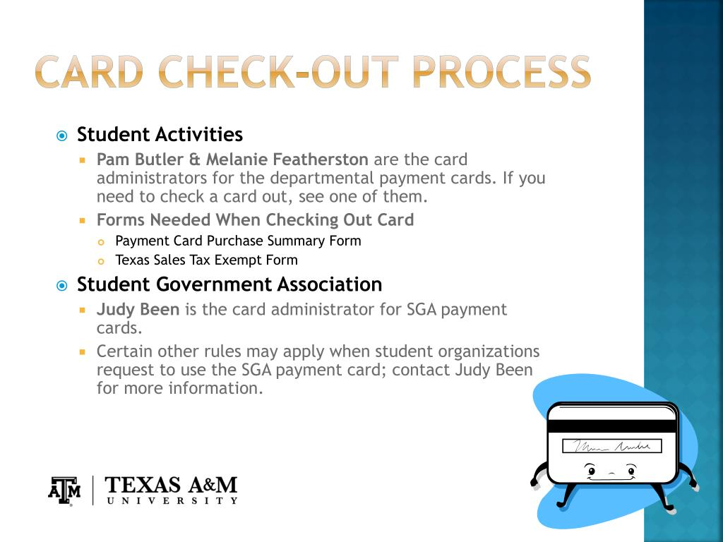 CARD CHECK-OUT PROCESS