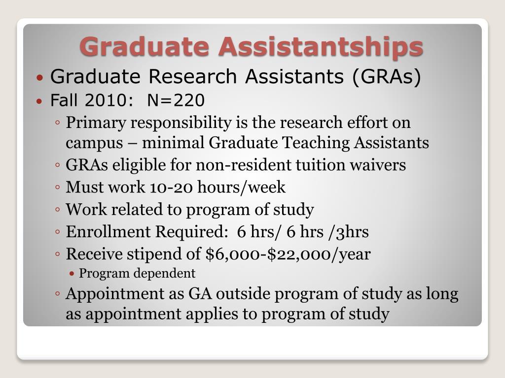 Graduate Research Assistants (GRAs)