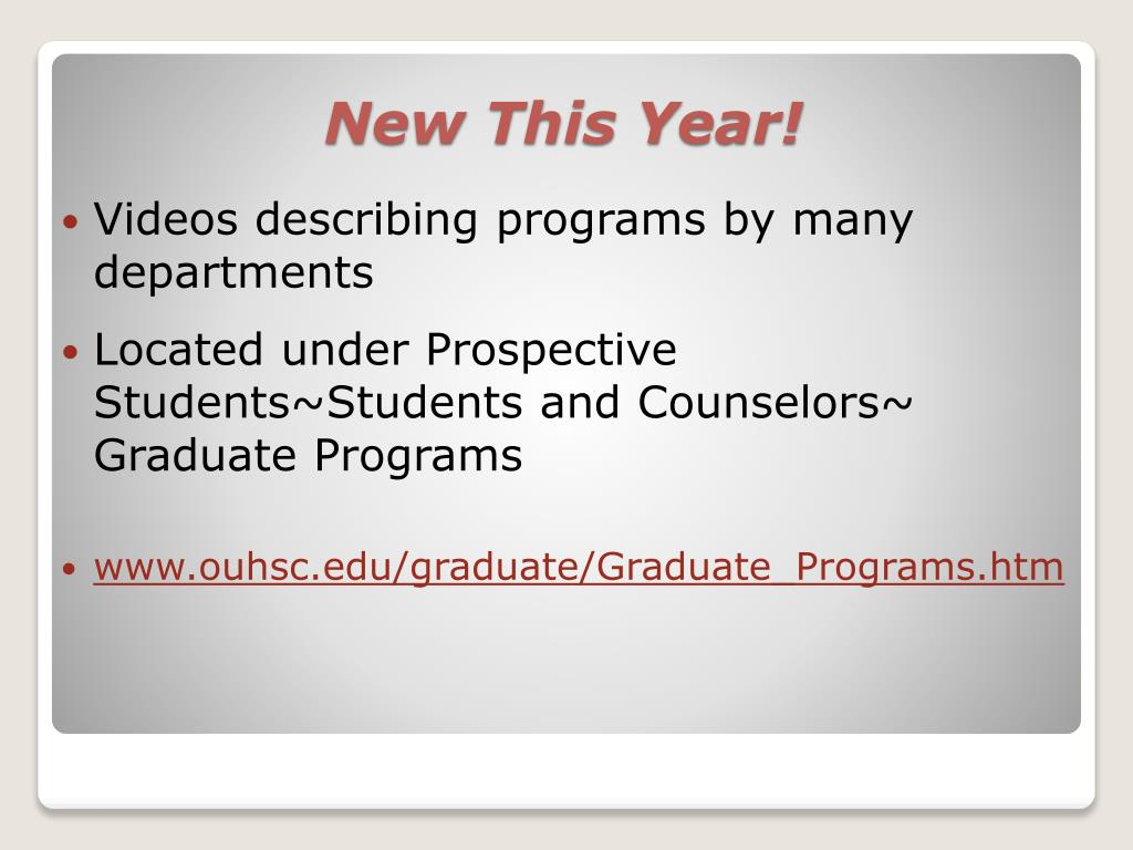 Videos describing programs by many departments