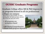 ouhsc graduate programs