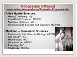 programs offered www ouhsc edu graduate graduate programs htm