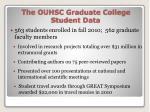 the ouhsc graduate college student data