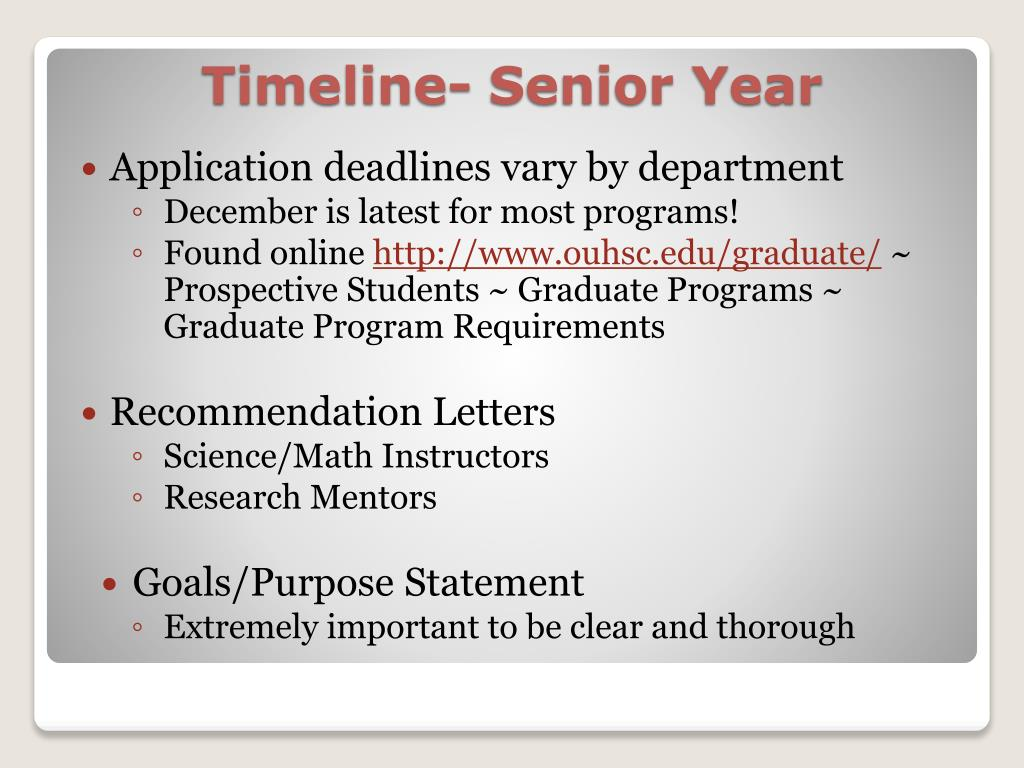 Application deadlines vary by department