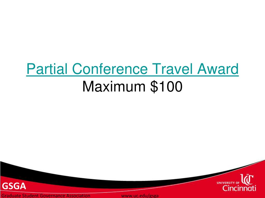 Partial Conference Travel Award