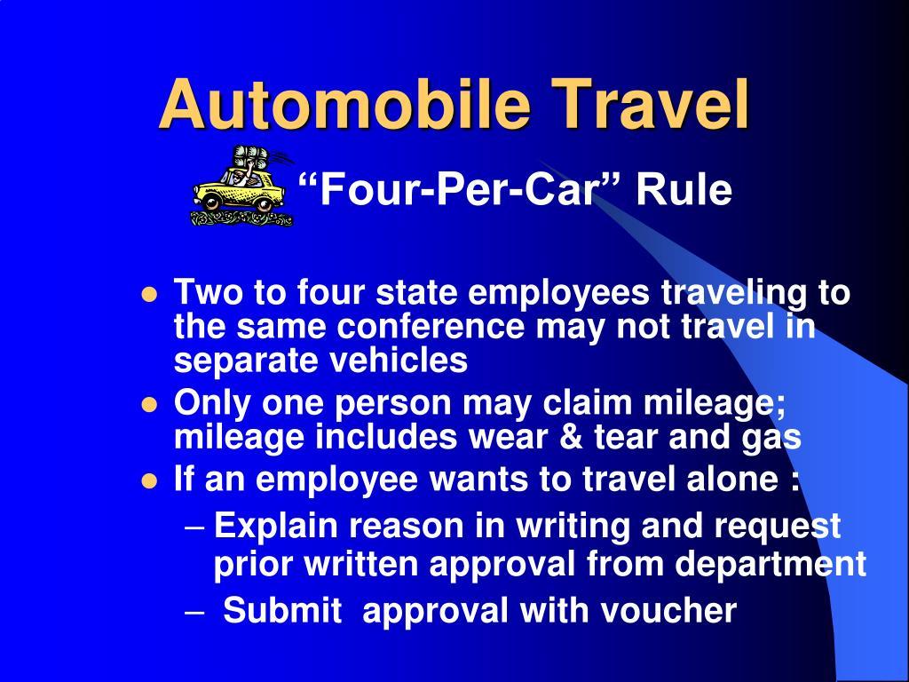Automobile Travel