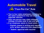 automobile travel