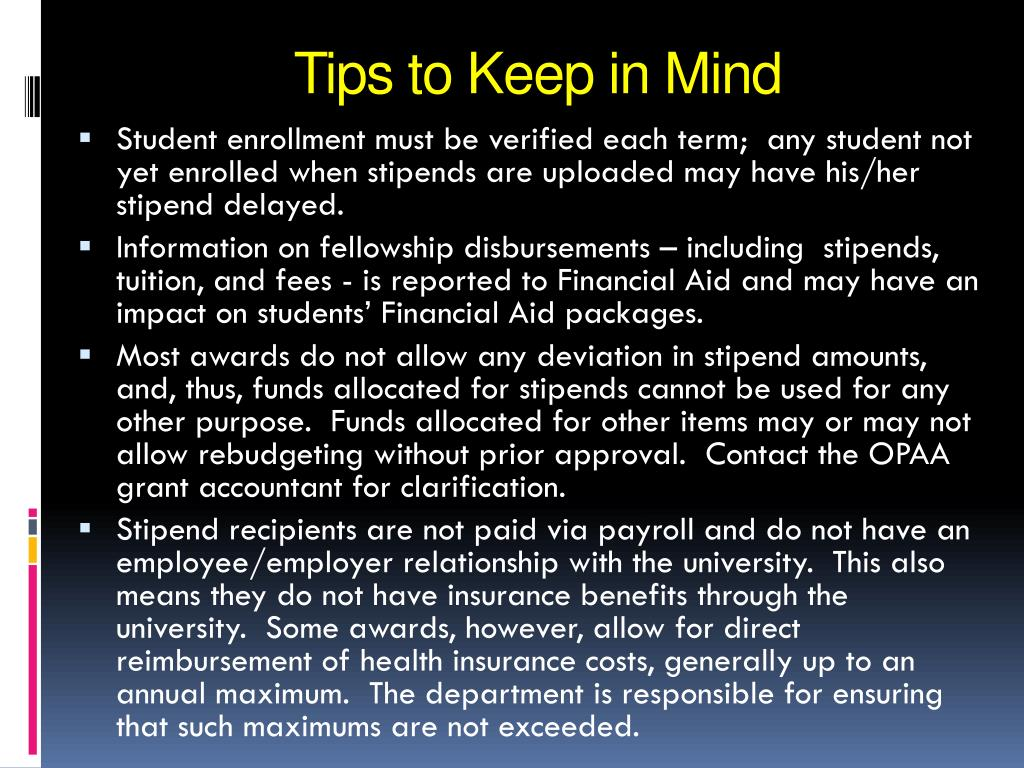 Tips to Keep in Mind