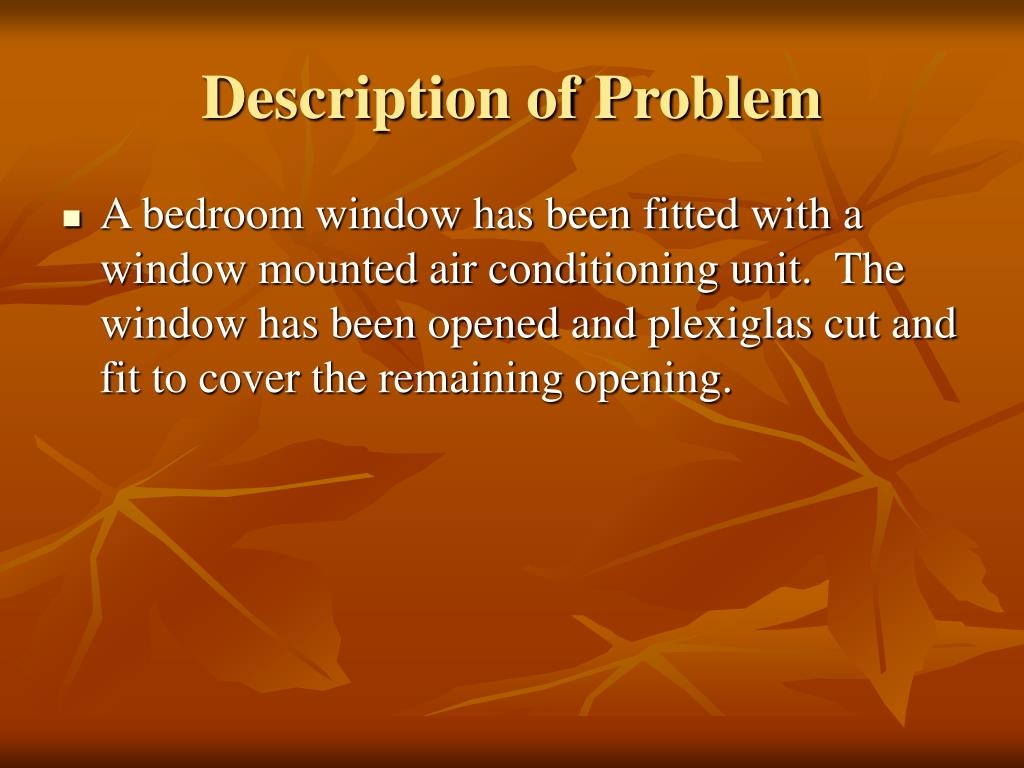 Description of Problem