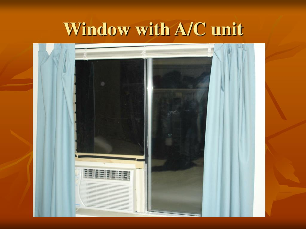 Window with A/C unit