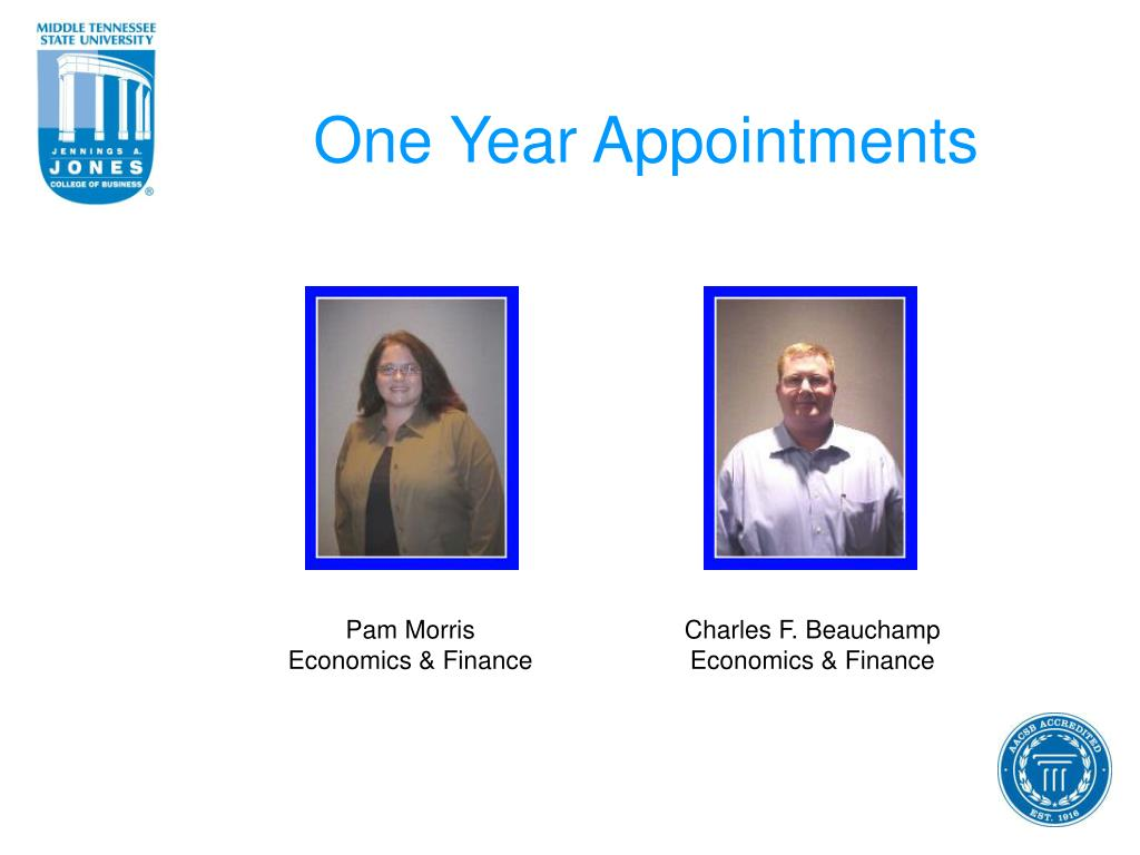 One Year Appointments