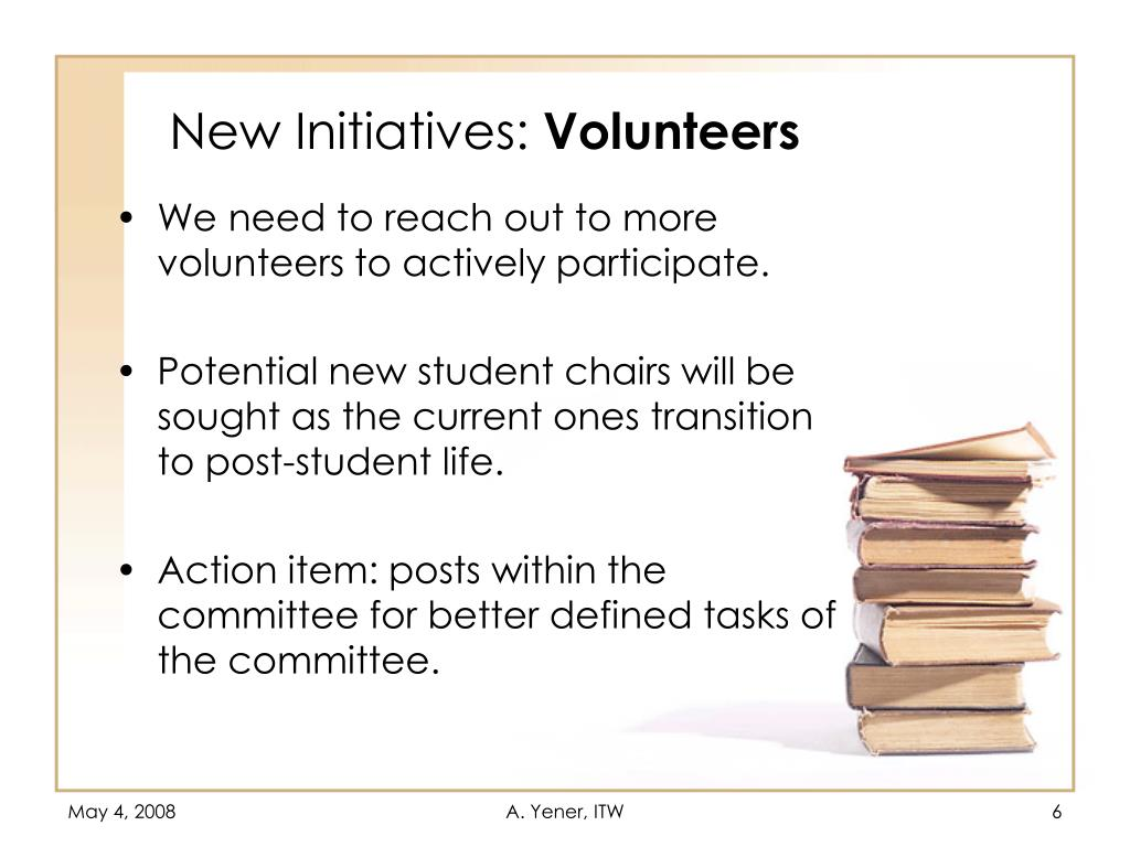 New Initiatives: