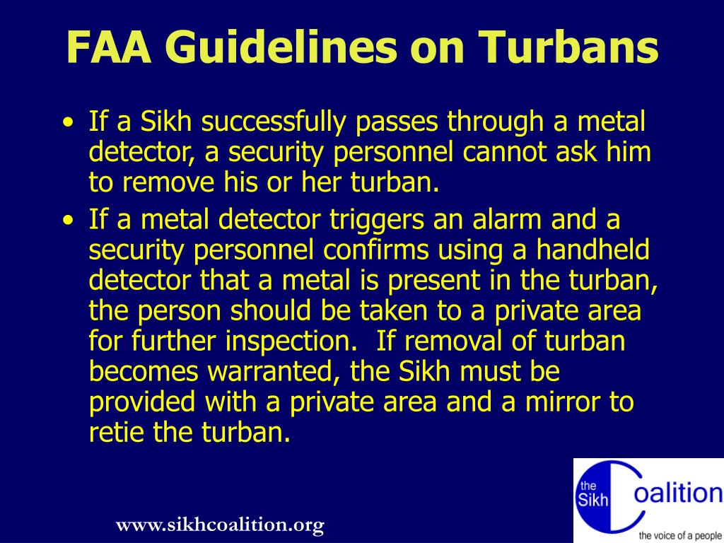 FAA Guidelines on Turbans