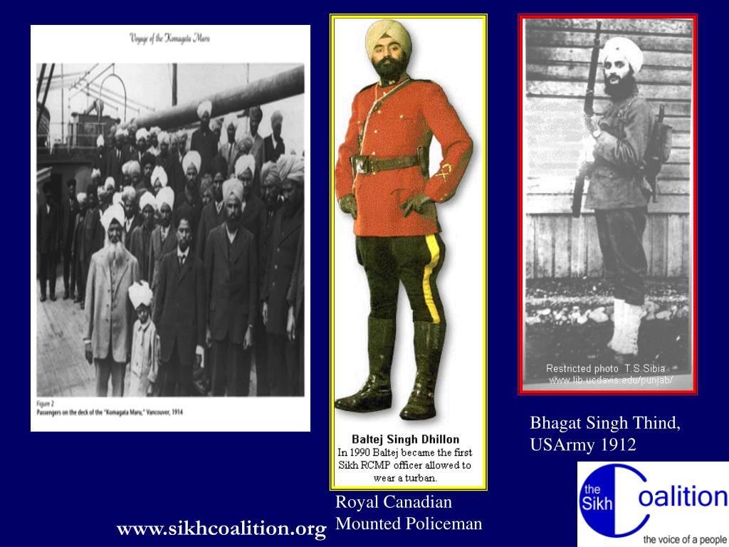 Bhagat Singh Thind, USArmy 1912