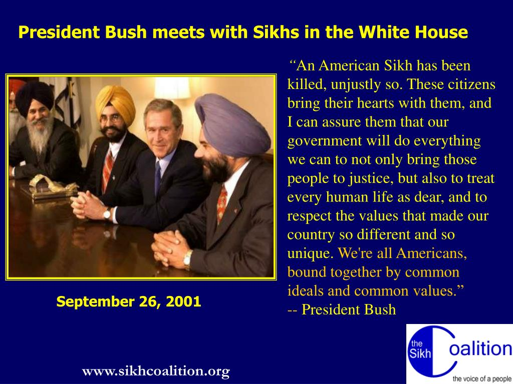 President Bush meets with Sikhs in the White House