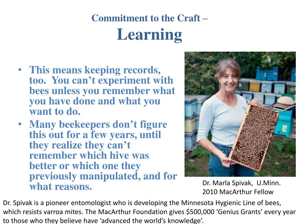 Commitment to the Craft –