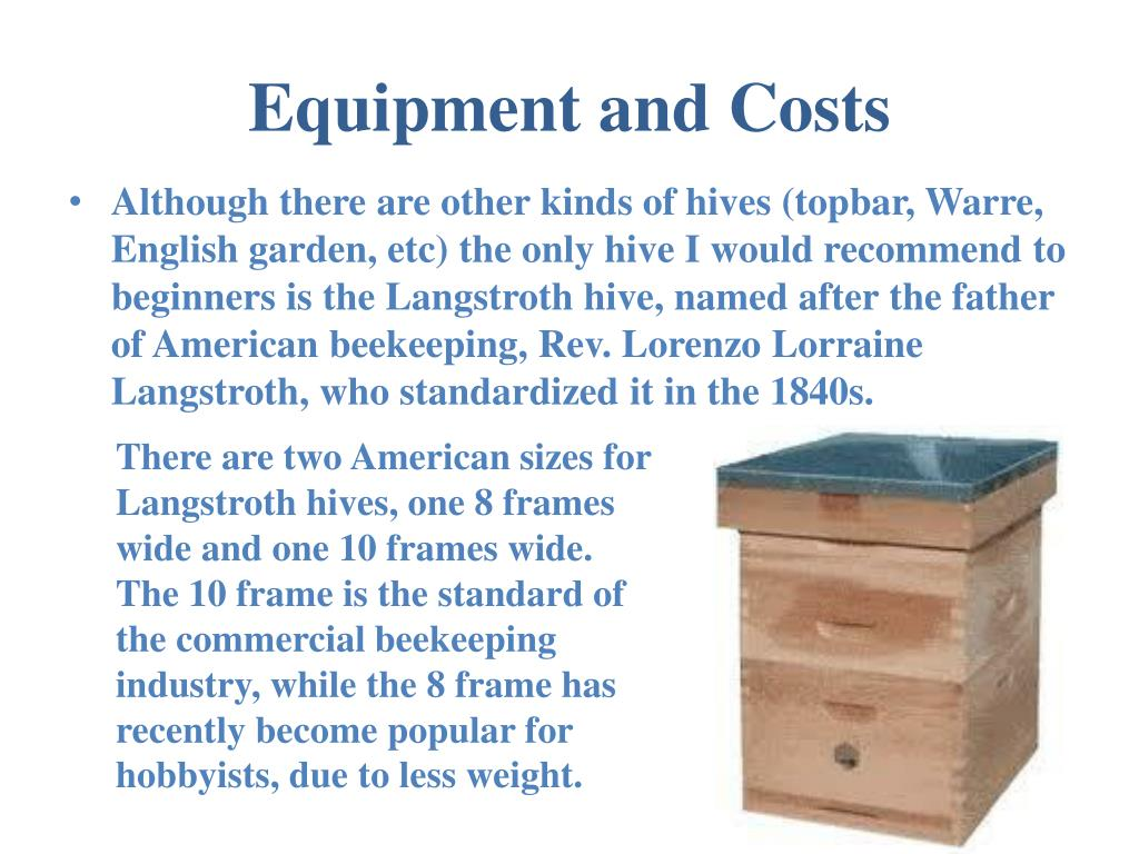 Equipment and Costs