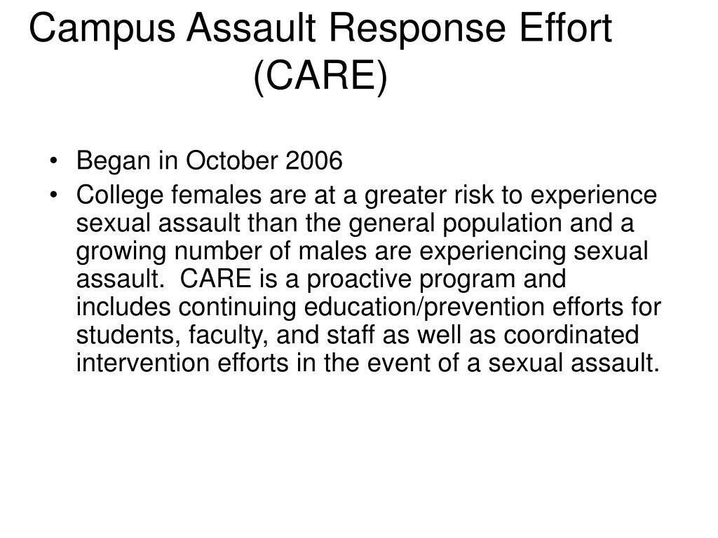 Campus Assault Response Effort (CARE)
