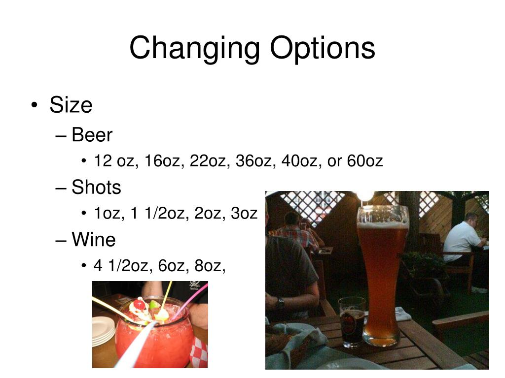 Changing Options