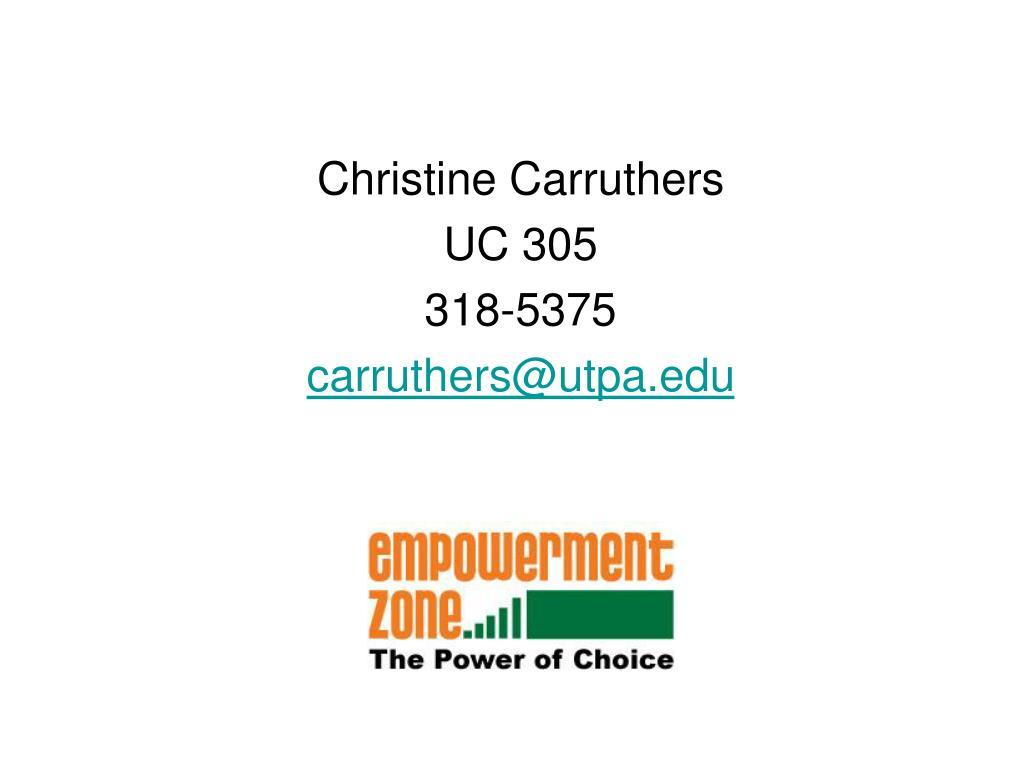 Christine Carruthers