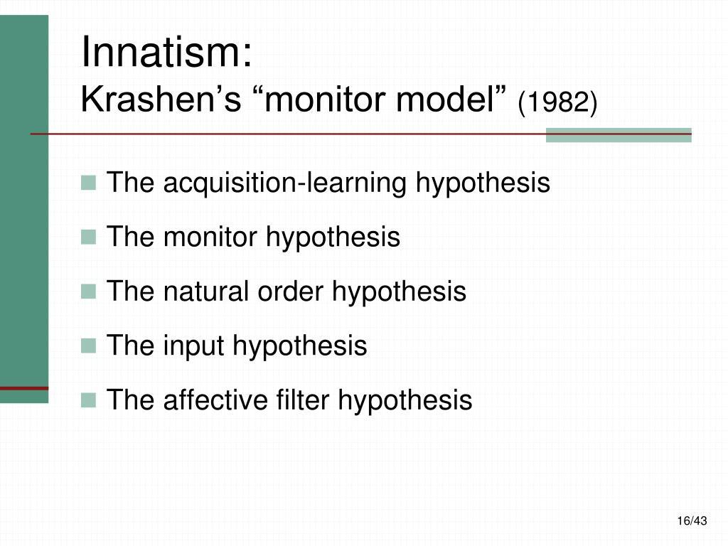 Innatism: