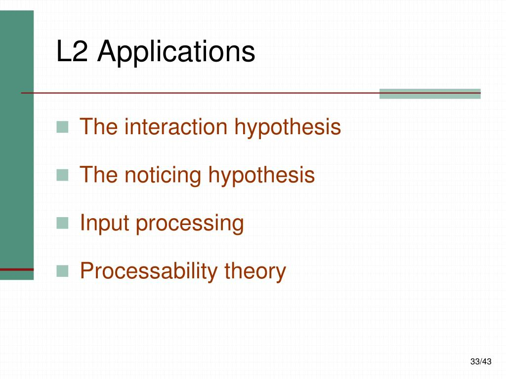 L2 Applications