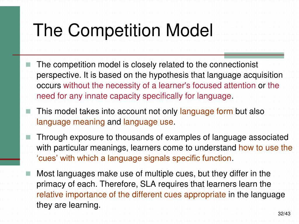 The Competition Model
