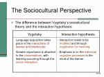 the sociocultural perspective42